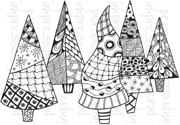 Lindsay Mason Designs - Zendoodle Trees Ready To Go Clear Stamp