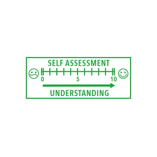 Teachers Stamper Self Assessment - for pupils to self assess their work, Trodat Printy 4912