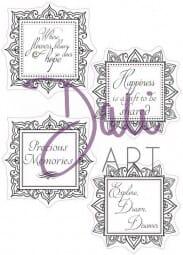 DaliArt - DaliART Clear Stamp Square Frame - Precious Memories