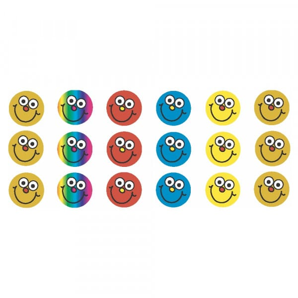 Round Mini Stickers - smiley faces