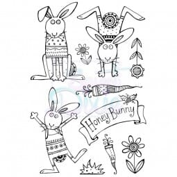 Cathie Shuttlworth Designs - Honey Bunny Clear Stamp A6