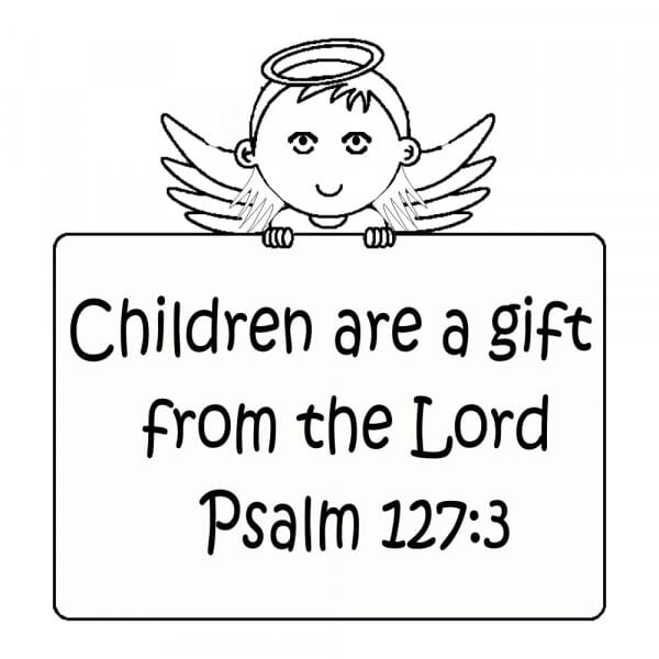 Craft Stamp - Children Are A Gift From The Lord
