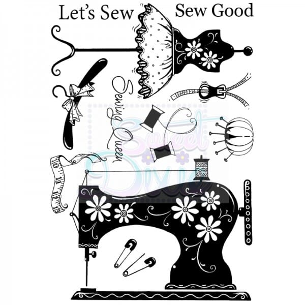 Sweet Dixie - Lets Sew A6 Clear Stamp