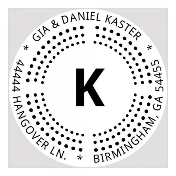 Monogram seal round - No  6