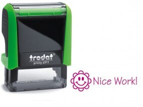 Trodat Classmate Self-Inking - Smiley Flower 4911