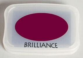 Tsukineko - Pearlescent Crimson Brilliance Pad