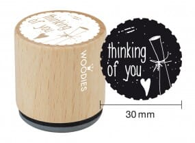 Woodies stamp Thinking of you