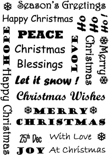 Sue Dix - Christmas Messages background Clear Stamp