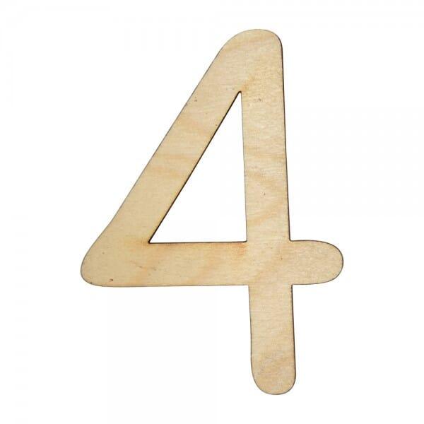 Craft Shapes - Number 4