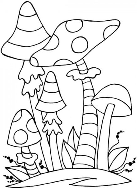 Lindsay Mason Designs - Zendoodles Toadstools Clear Stamps