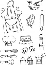 Lindsay Mason Designs - Kitchen Bits Clear Stamp