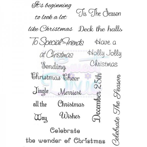 Sue Dix Designs - Tis The Season Clear Stamp A6