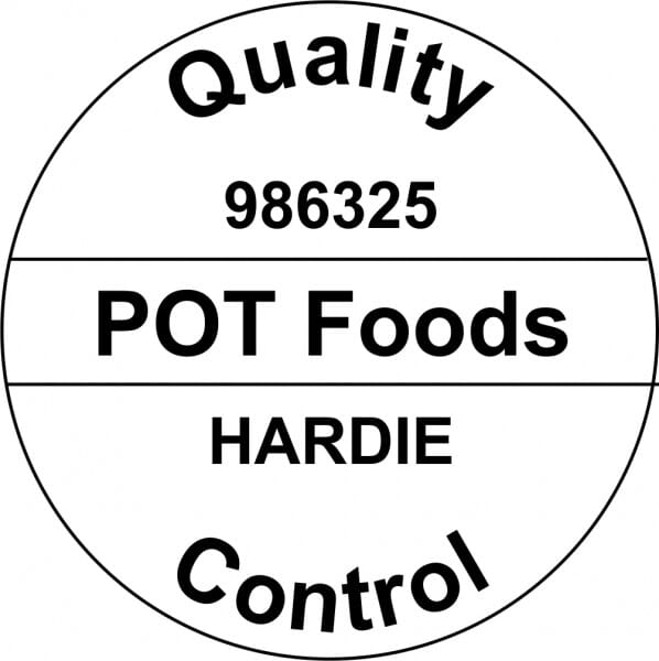 Customised Quality Control Inspection Stamp - Company Name