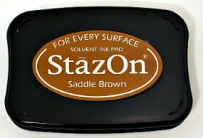 Tsukineko - Saddle Brown Staz On Pad