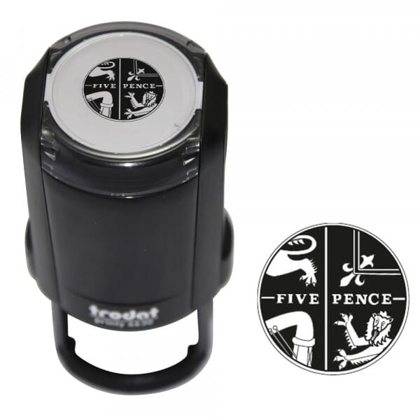 5 Pence Coin Self-inking Stamp - Trodat Printy 4630