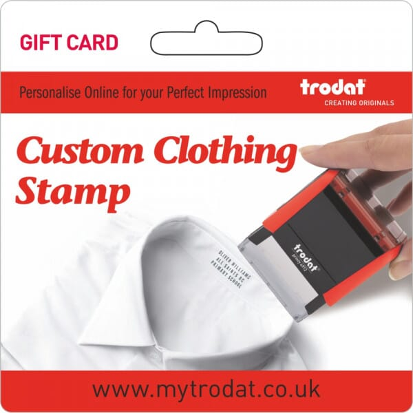 Trodat Clothing Label Stamp Gift Card