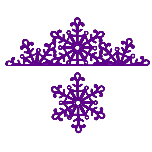 Sweet Dixie Christmas Snowflake Edge and Matching Snowflake designed by Sue Dix