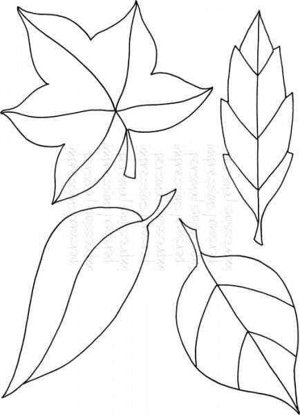 Lindsay Mason Designs - Zendoodle Leaves Set - Clear Stamp