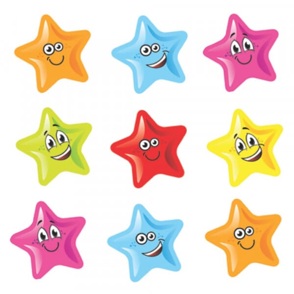 Bumper Pack Stickers - Smiley Stars