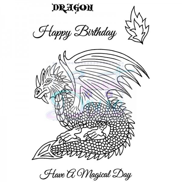 Sue Dix Designs - Dragon Clear Stamp size A6