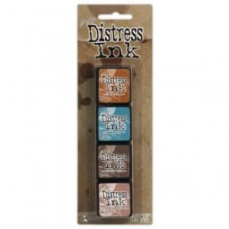 Ranger Ink - Tim Holtz Distress Mini Ink Pads Kit 6 - Sold in one strip of 4 pads