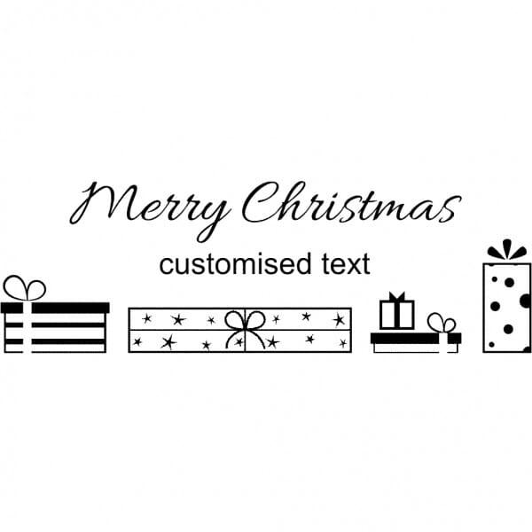 Custom Eco Gift Tag Stamp - Merry Christmas Gift Design