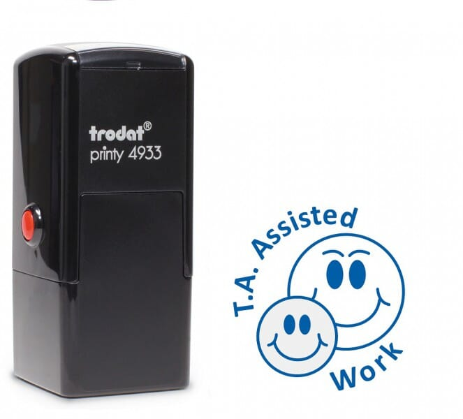 Trodat Printy 4933 - T.A. Assisted Work - blue