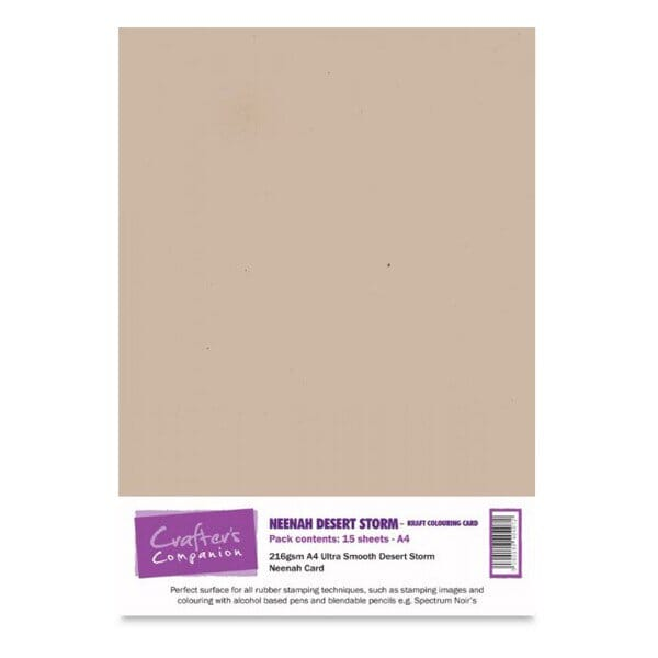 Crafter's Companion Neenah A4 Kraft Colouring Card - 15 Sheets Desert Storm
