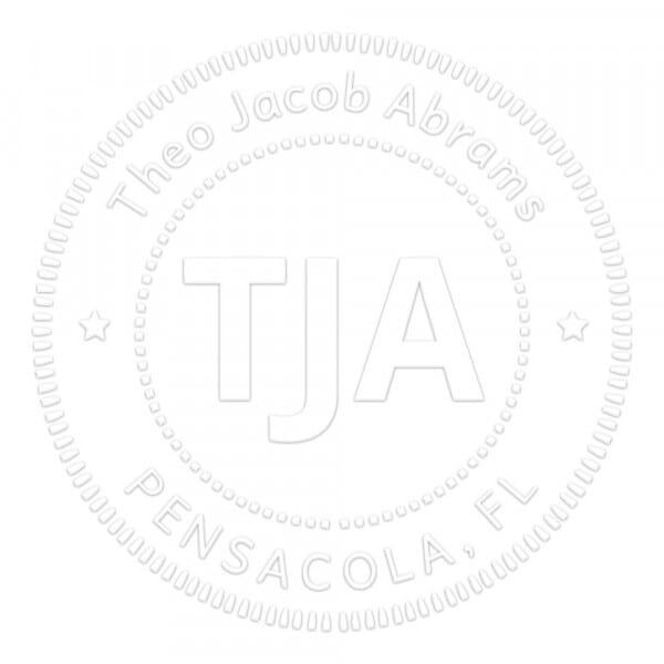 Bold Classic Style Round Monogram Seal