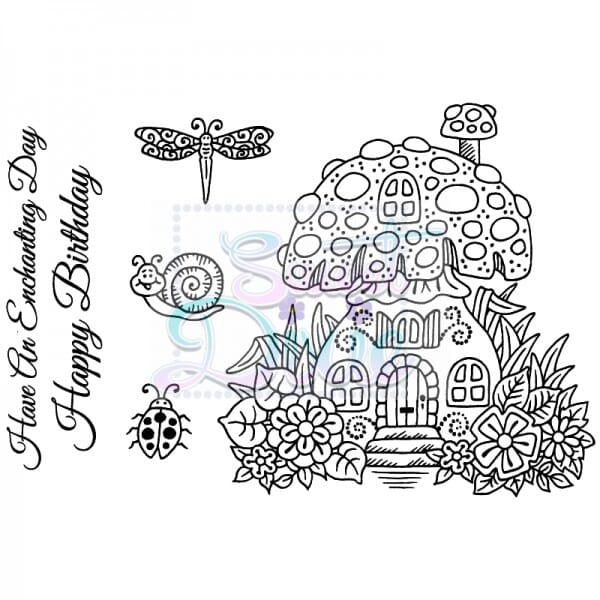 Sue Dix Designs - Toadstool House Clear Stamp size A6