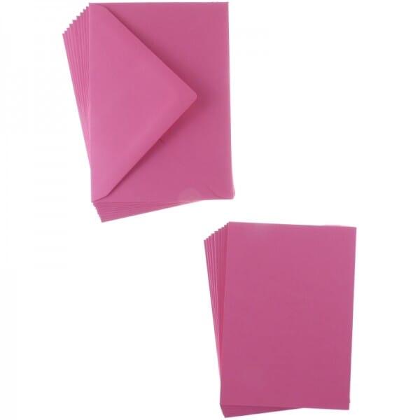 Sweet Dixie Fuchsia A6 Card and Envelope Packs (10)
