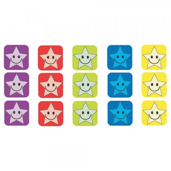 Square Mini Stickers - smiling stars
