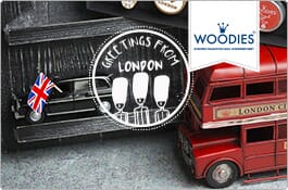 Woodies London Stamps