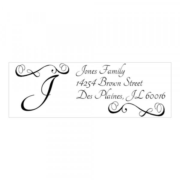 Monogram stamp rectangular - No  11