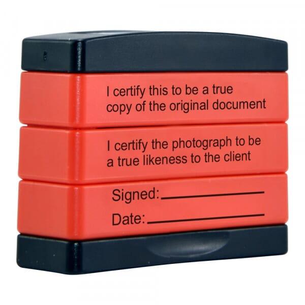 Certified True Copy & True Likeness 3-in-1 STAMPSTACK