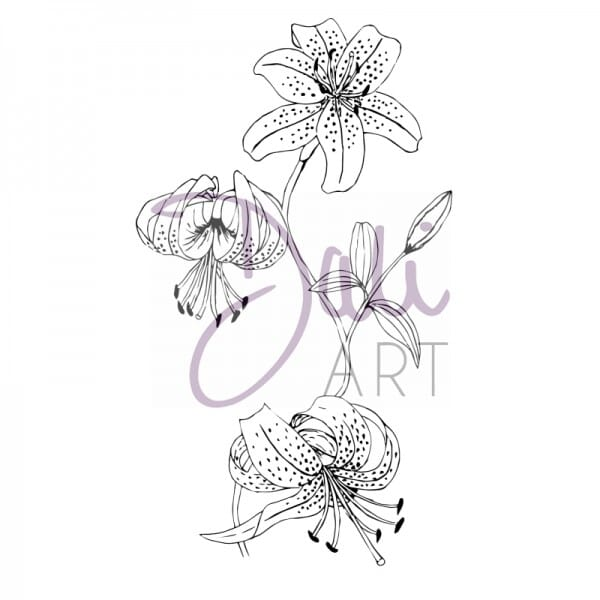 DaliArt - DaliART Clear Stamp Lilly Flowers A6