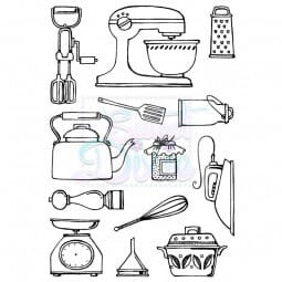 Sweet Dixie - Kitchen Wares A6 Clear Stamp
