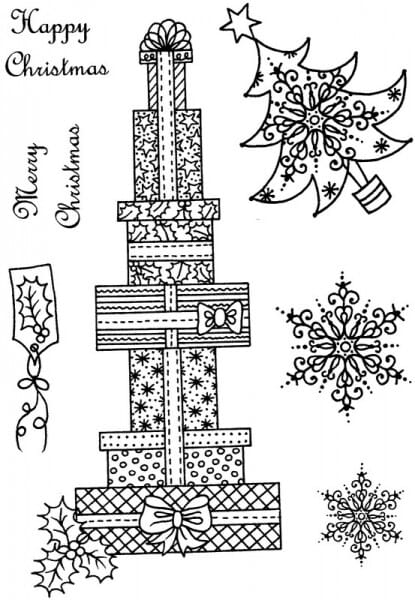 Sue Dix - Huge Stack of Presents Clear Stamp