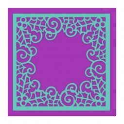 Sue Dix Designs - Swirling Holly Frame Stencil
