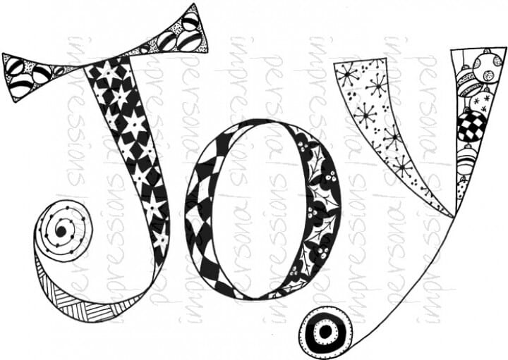 Lindsay Mason Designs - Zendoodle Joy Ready To Go Clear Stamp