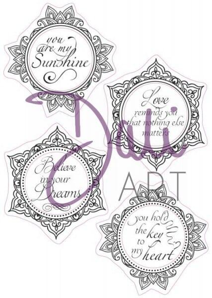 DaliArt - DaliART Clear Stamp Circular Frame - My Sunshine