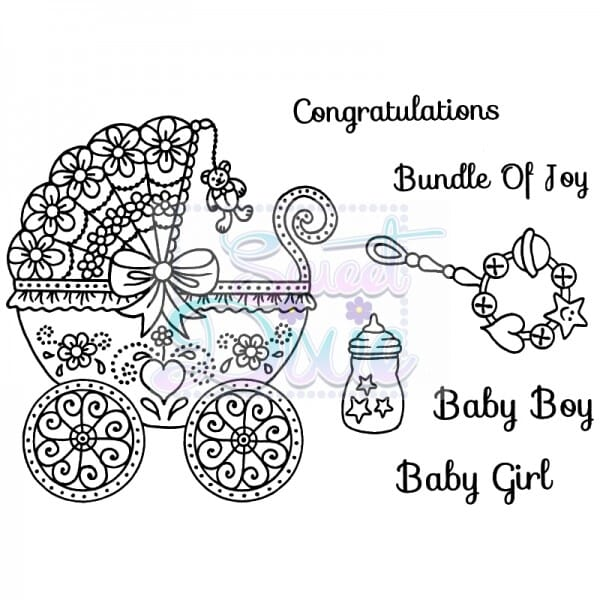 Sue Dix Designs - Bundle of Joy Clear Stamp size A6
