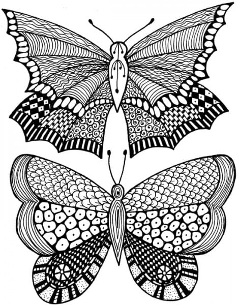 Lindsay Mason Designs - Zendoodles Butterflies Ready To Go Clear Stamp