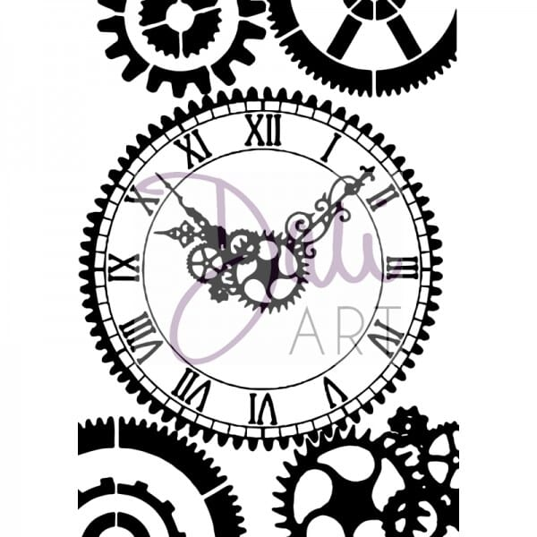 DaliArt - DaliART Clear Stamp Clock Face A6