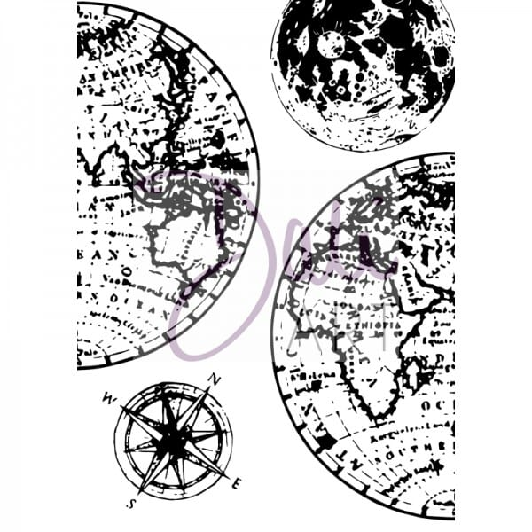 DaliArt - DaliART Clear Stamp Globes A6