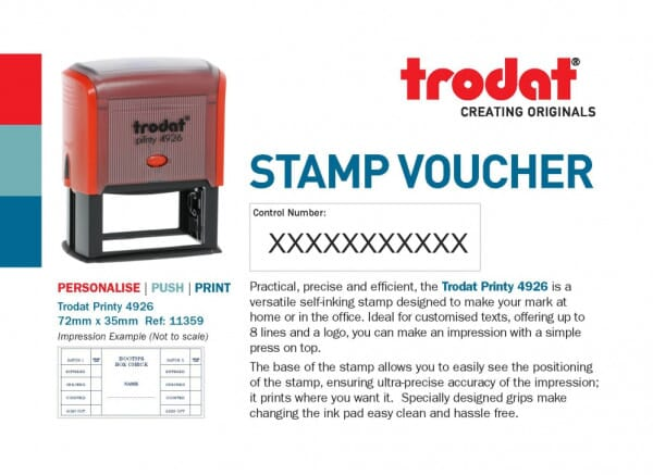 Trodat Printy 4926 Stamp Voucher