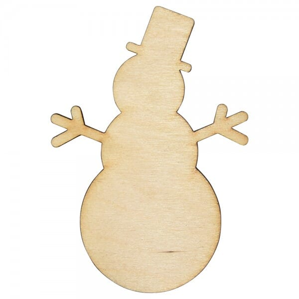 Craft Shapes - Snowman with stick arms