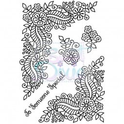 Sweet Dixie - Sweet Dixie Clear Stamp Fantasy Floral Corners A6