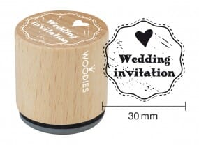 Woodies stamp Wedding invitation 1