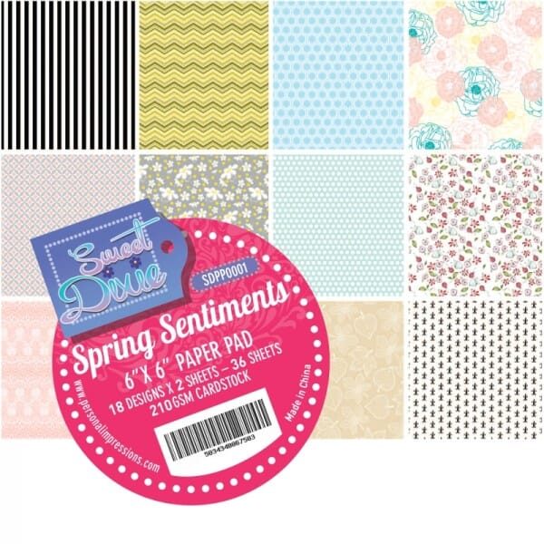 Sweet Dixie Spring Sentiments Cardstock Pad